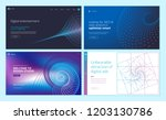set of web page design... | Shutterstock .eps vector #1203130786