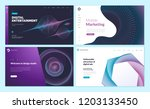 set of web page design... | Shutterstock .eps vector #1203133450