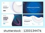 set of web page design... | Shutterstock .eps vector #1203134476