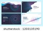 set of web page design... | Shutterstock .eps vector #1203135190