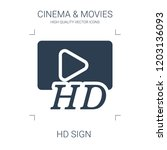 hd sign icon. high quality... | Shutterstock .eps vector #1203136093