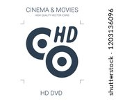 hd dvd icon. high quality... | Shutterstock .eps vector #1203136096