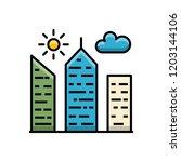 city building outline filled...   Shutterstock .eps vector #1203144106