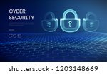 coputer internet cyber security ... | Shutterstock .eps vector #1203148669