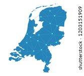 map of netherlands from... | Shutterstock .eps vector #1203151909