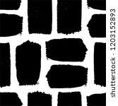 black textured brush stroke... | Shutterstock .eps vector #1203152893