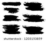 brush strokes. vector... | Shutterstock .eps vector #1203153859