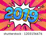 new year greating card. blue...   Shutterstock .eps vector #1203156676