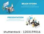 business teamwork horizontal... | Shutterstock .eps vector #1203159016
