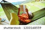 asian woman travel nature....   Shutterstock . vector #1203168559