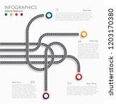 navigation roadmap infographic... | Shutterstock .eps vector #1203170380