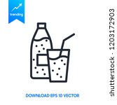 bottle of water and glass.... | Shutterstock .eps vector #1203172903