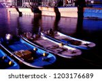 the fishing boat docked in the...   Shutterstock . vector #1203176689