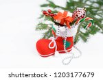 christmas decor for the holiday | Shutterstock . vector #1203177679