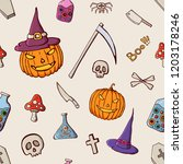 halloween color seamless... | Shutterstock .eps vector #1203178246