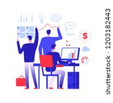 multitasking manager.... | Shutterstock .eps vector #1203182443