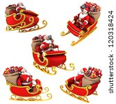 santa claus on sleigh with... | Shutterstock . vector #120318424