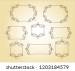 set vector retro frames .vector ... | Shutterstock .eps vector #1203184579