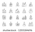 candle charcoal icons set.... | Shutterstock .eps vector #1203184696