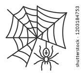 spider web thin line icon.... | Shutterstock .eps vector #1203184753