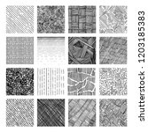 16 seamless pattern of ink hand ... | Shutterstock . vector #1203185383