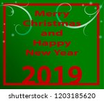 happy new year 2019 background. ...   Shutterstock .eps vector #1203185620