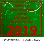 happy new year 2019 background. ...   Shutterstock .eps vector #1203185629