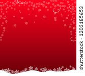 christmas card on red background   Shutterstock .eps vector #1203185653