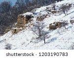 Mountain Landscape. Snow...