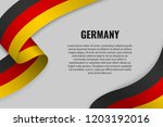 waving ribbon or banner with... | Shutterstock .eps vector #1203192016