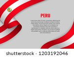 waving ribbon or banner with... | Shutterstock .eps vector #1203192046