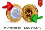 monero to euro currency...   Shutterstock .eps vector #1203196540