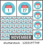 november calendar icon reminder.... | Shutterstock .eps vector #1203197749
