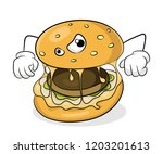 fast food unhealthy eating... | Shutterstock .eps vector #1203201613
