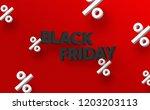 creative 3d design for black... | Shutterstock .eps vector #1203203113