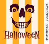 halloween scull. vector... | Shutterstock .eps vector #1203203626