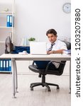 young handsome businessman...   Shutterstock . vector #1203207880