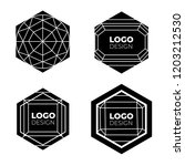 vector logo design elements set ... | Shutterstock .eps vector #1203212530