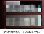 reworked photo of building... | Shutterstock . vector #1203217963