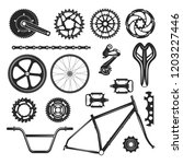 bicycle repair parts set ... | Shutterstock .eps vector #1203227446