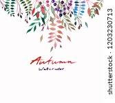 tender beautiful gentle autumn...   Shutterstock . vector #1203230713