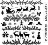 christmas design elements   Shutterstock .eps vector #1203231559