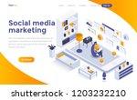 modern flat design isometric... | Shutterstock .eps vector #1203232210