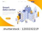 modern flat design isometric... | Shutterstock .eps vector #1203232219