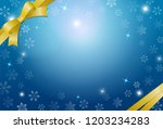 snow crystal and ribbon... | Shutterstock . vector #1203234283