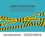 under construction website page.... | Shutterstock . vector #1203235816