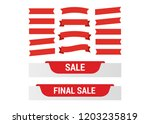 cartoon banners and comic... | Shutterstock . vector #1203235819