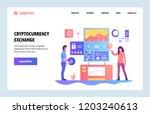 vector web site linear art... | Shutterstock .eps vector #1203240613