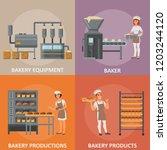 bakery vector poster banner set.... | Shutterstock .eps vector #1203244120
