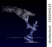 vector polygonal art style... | Shutterstock .eps vector #1203244123